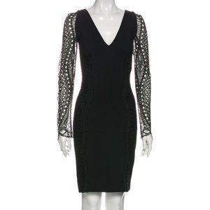 Emilio Pucci V-Neck Lace Sleeve Dress